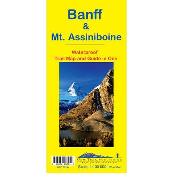 Banff & Mt Assiniboine Map Waterproof