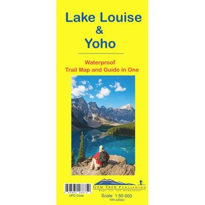 Lake Louise Yoho Map Waterproof