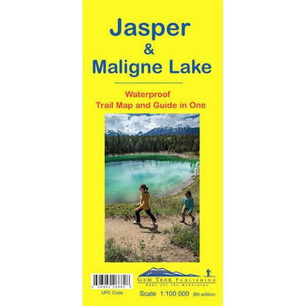 Jasper & Maligne Lake Map Waterproof
