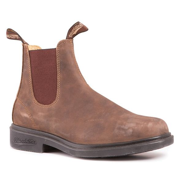 Leather Lined Boot Pebbled Brown