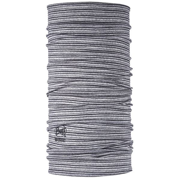 Charcoal Stripes Lightweight Merino Buf