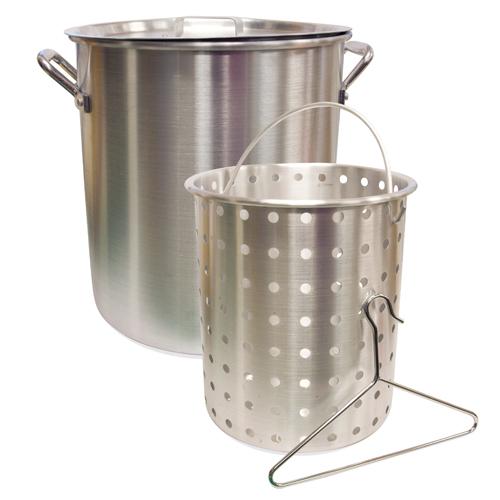 32 qt Aluminum Pot with Basket