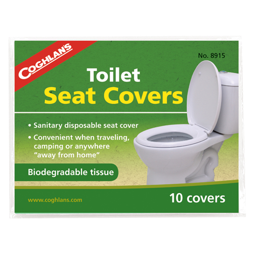 Groovy Coghlans Toilet Seat Covers 10 Pack Biodegradeable Tissues Caraccident5 Cool Chair Designs And Ideas Caraccident5Info