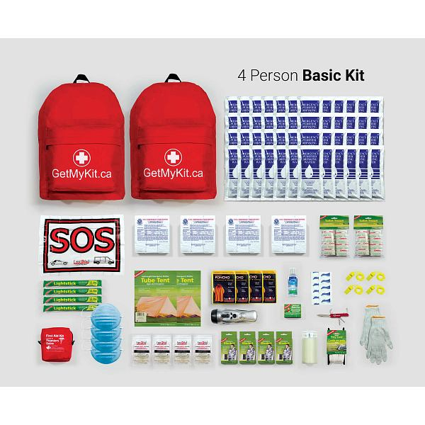 4 Person Family Emergency Kit
