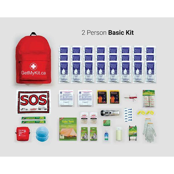 2 Person Basic Emergency Kit