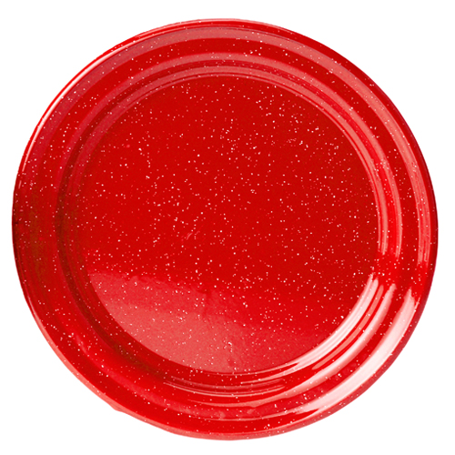 Enamel Plate 10 in Red
