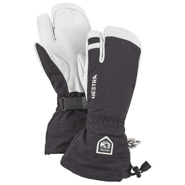 Army Leather Heli Ski 3 Finger Mitten