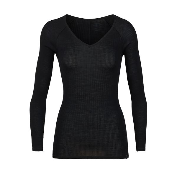 Luxe Rib Long Sleeve V - Women's