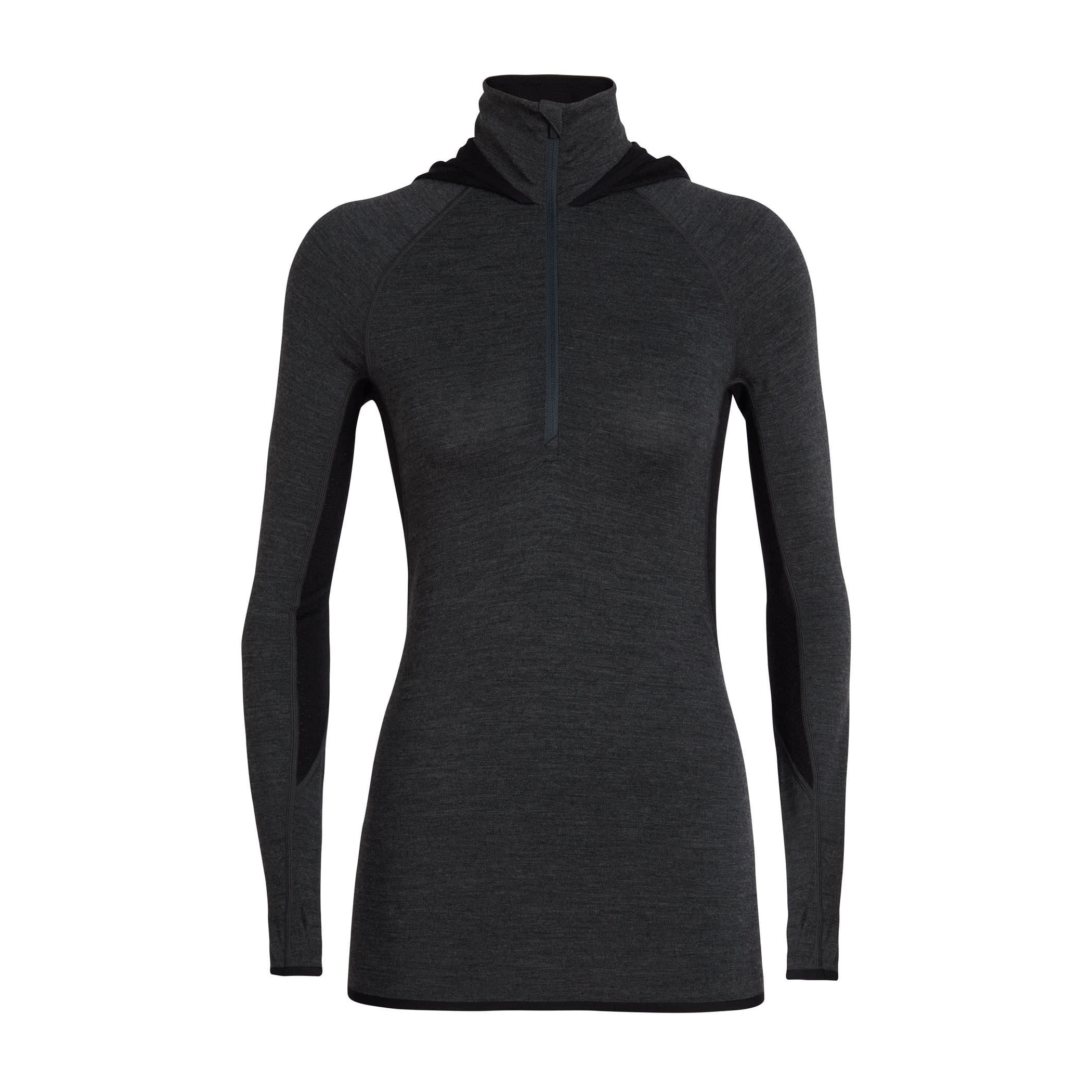 Fluid Zone Half Zip Hood Long Sleeve - Women's