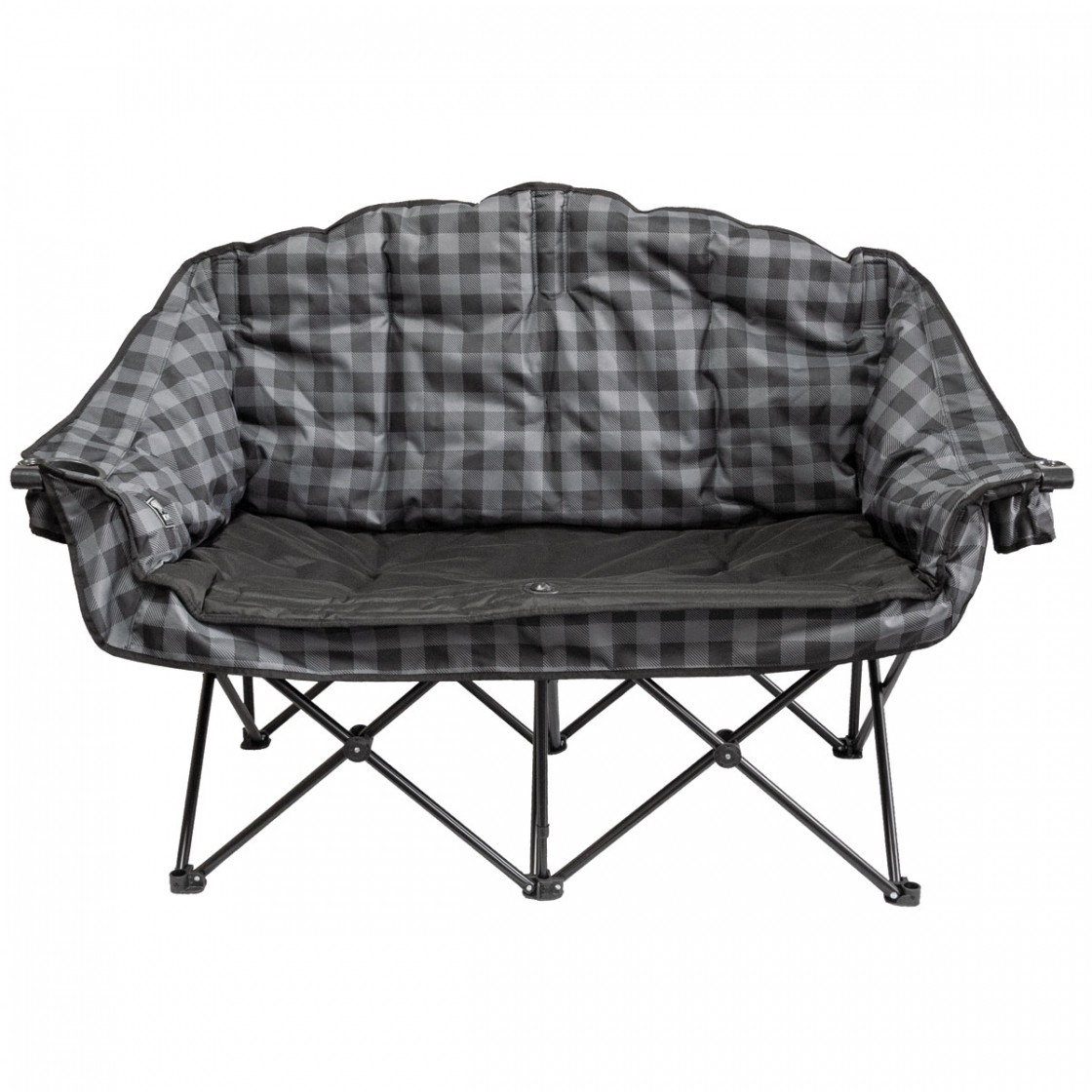 Bear Buddy Double Chair Grey Plaid