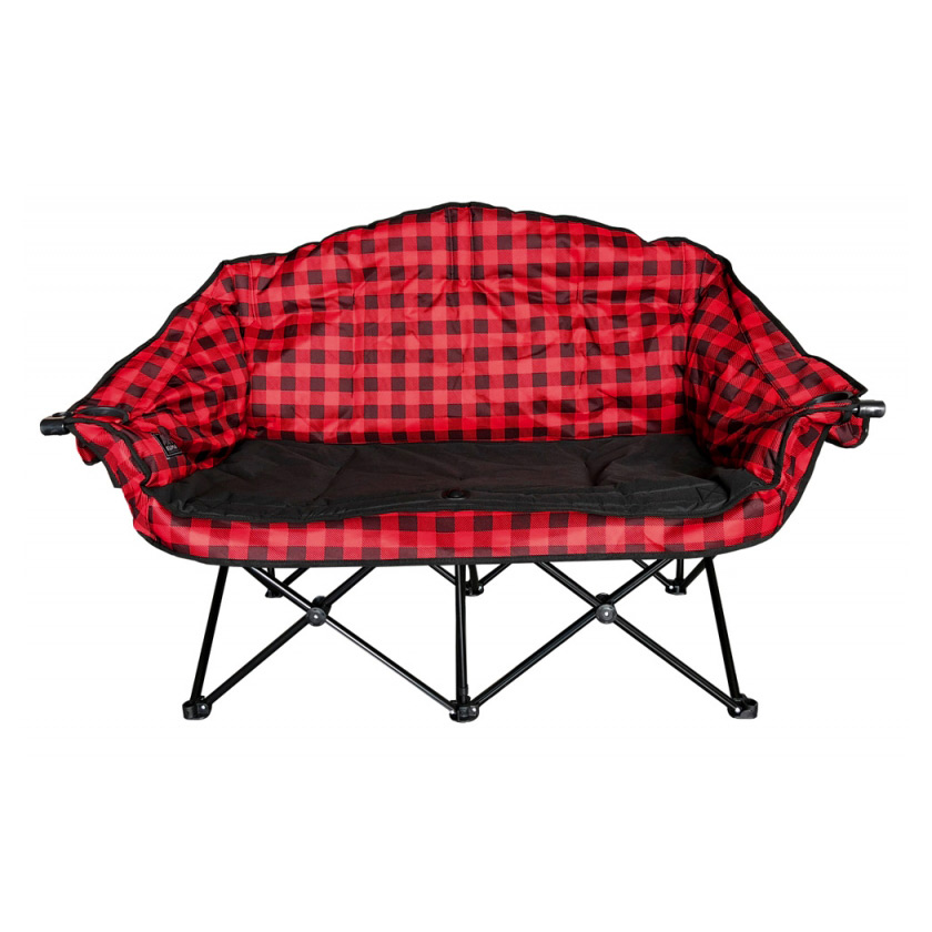 Bear Buddy Double Chair Red Plaid