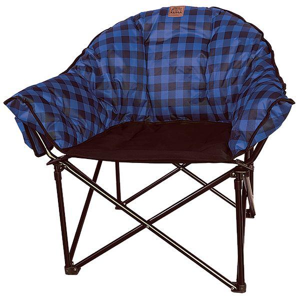 Lazy Bear Chair Blue Plaid