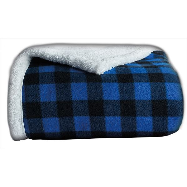 Sherpa Throw 50 x 60 Blue/Blk
