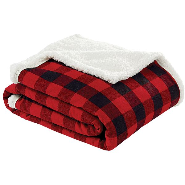 Sherpa Throw 50 x 60 Red/Blk