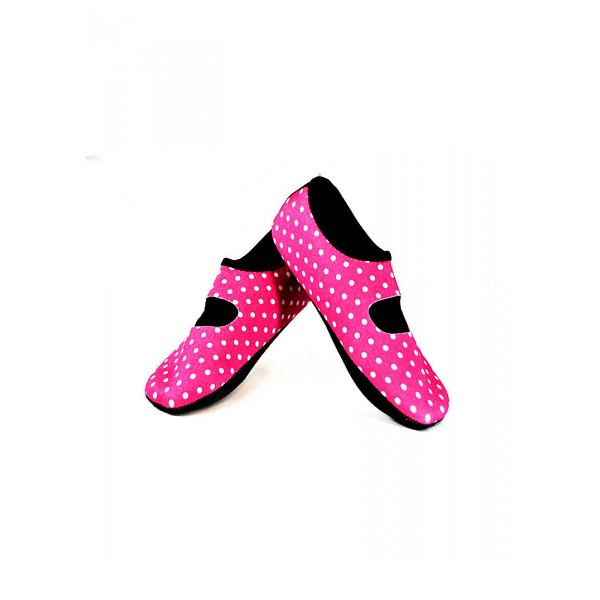 Pink/White Dot Mary Janes Large - Women's