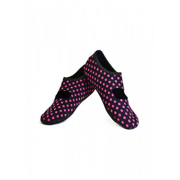 Black/Pink Dot Mary Janes Medium - Women's