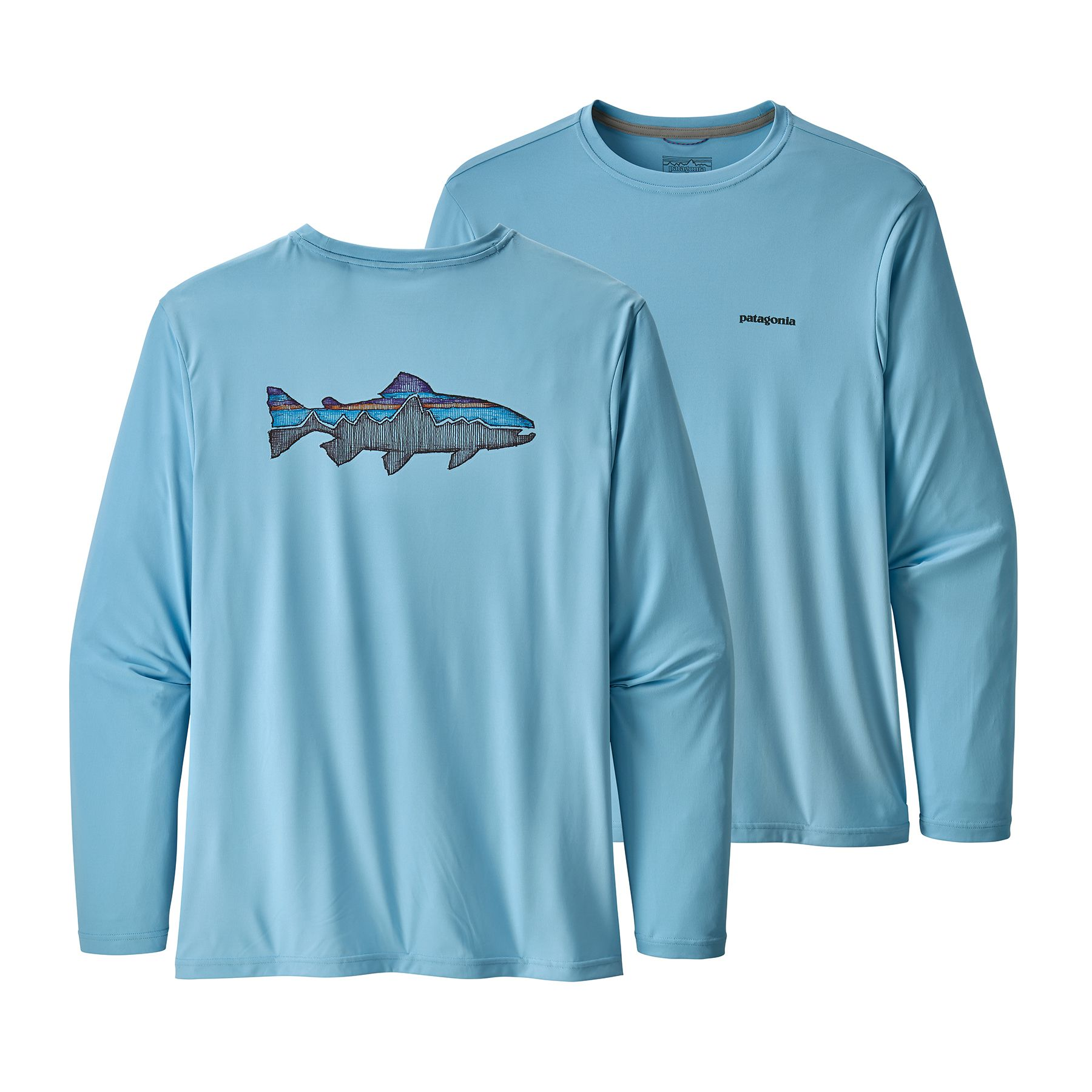 Cap Cool Daily Fish Graphic Shirt Long Sleeve - Men's