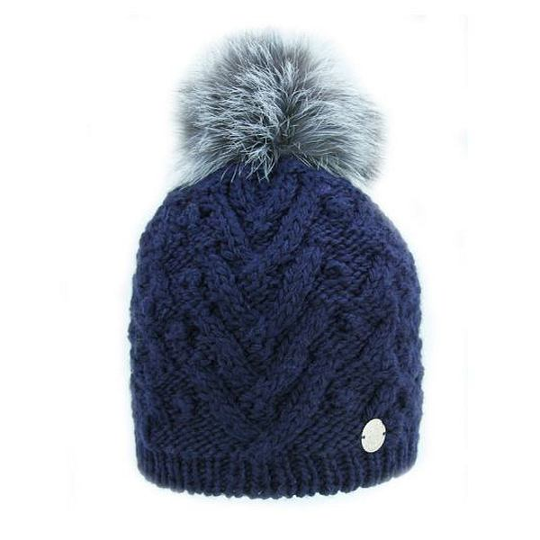 Fox Fur Pompom Hat