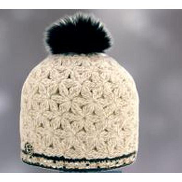 Jewel Hat Fox Fur Pompom