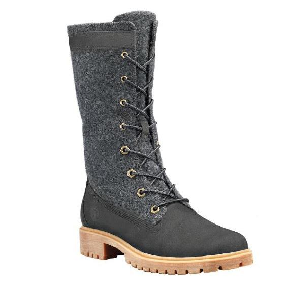 Jayne Warm Gaiter Boot Black - Women's